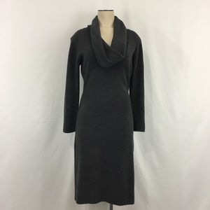 Connected Cowl Neck Sweater Dress Heather Grey M